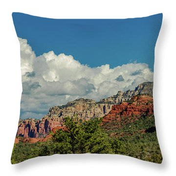 Throw Pillow featuring the photograph Sedona Panoramic II by Bill Gallagher