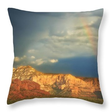Sedona Rainbow 2 Throw Pillow