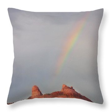 Sedona Rainbow Throw Pillow