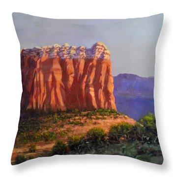 Sedona Red Rocks Throw Pillow