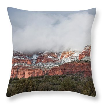 Throw Pillow featuring the photograph Sedona Revealed by Sandra Bronstein
