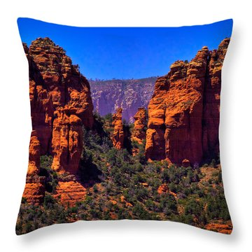 Sedona Rock Formations II Throw Pillow by David Patterson