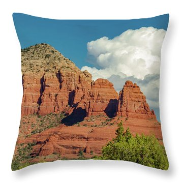 Throw Pillow featuring the photograph Sedona, Rocks And Clouds by Bill Gallagher