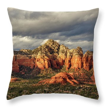 Throw Pillow featuring the photograph Sedona Skyline by James Eddy