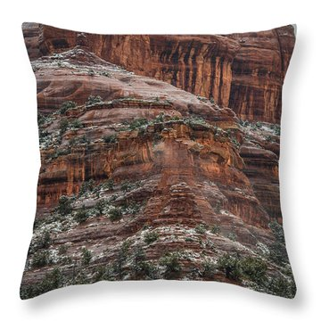 Sedona Snow Throw Pillow