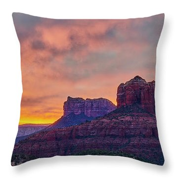 Sedona Sunrise Throw Pillow