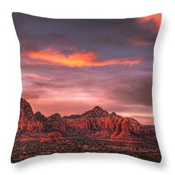 Sedona Sunset Panorama Throw Pillow