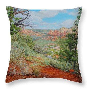 Sedona Trail Throw Pillow