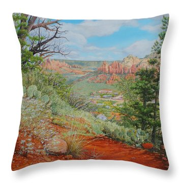Sedona Trail Throw Pillow by Mike Ivey