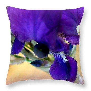 Sedona Wild Iris Throw Pillow