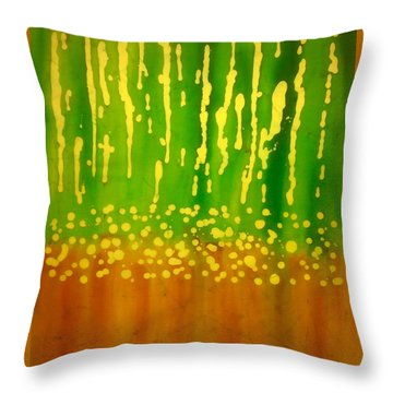 Seeds And Sprouts Throw Pillow
