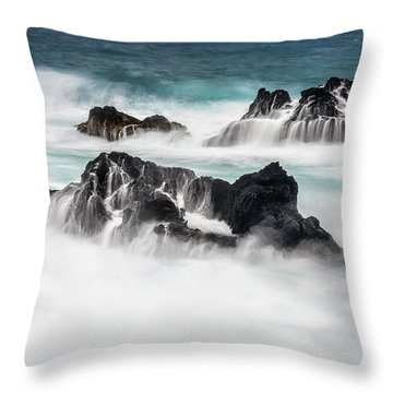 Throw Pillow featuring the photograph Seduced By Waves by Jon Glaser
