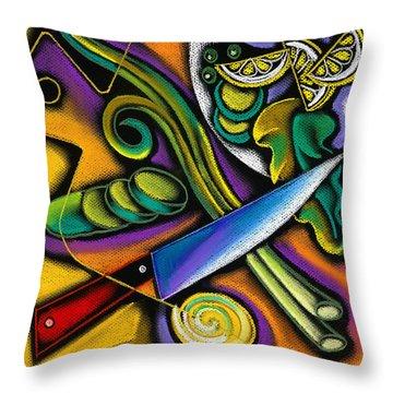 Tasty Salad Throw Pillow by Leon Zernitsky
