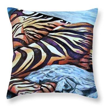 Seduction Of Stripes Throw Pillow