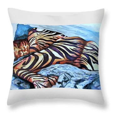 Seduction Of Stripes Throw Pillow