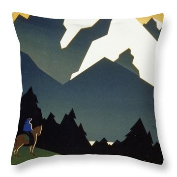 See America Welcome To Montana Throw Pillow by M Weitzman