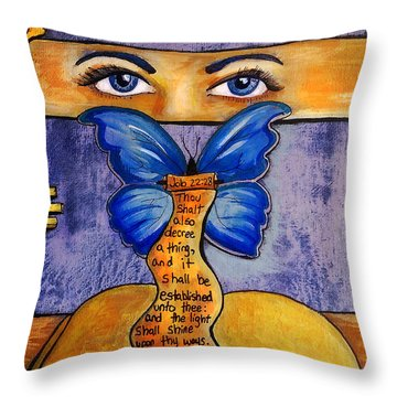 See And Decree Throw Pillow
