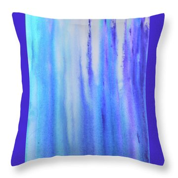 See Blue Sea Throw Pillow by Cyrionna The Cyerial Artist