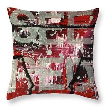 See Red Chicago Bulls Throw Pillow