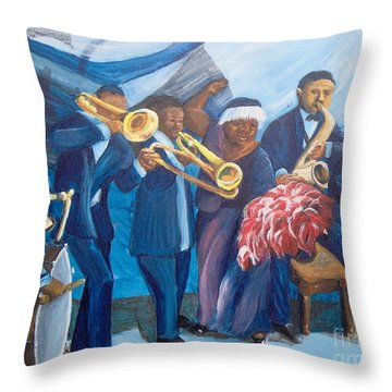 Throw Pillow featuring the painting See The Music by Saundra Johnson