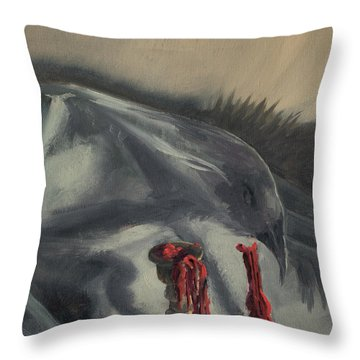 See You In The Shadows Throw Pillow