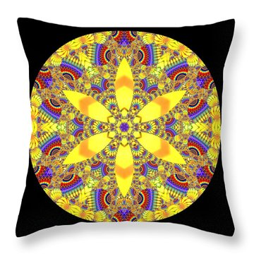 Throw Pillow featuring the digital art Seed Of Life  by Robert Thalmeier