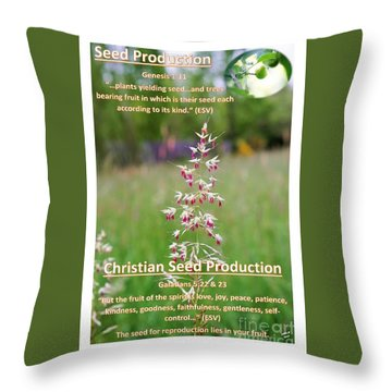 Seed Production Throw Pillow