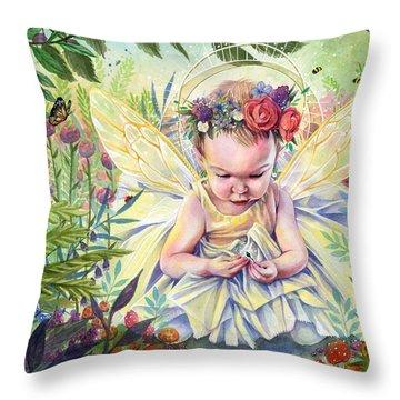 Seedling Throw Pillow by Sara Burrier