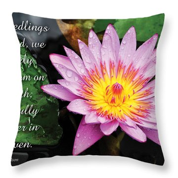 Seedlings Of God Throw Pillow