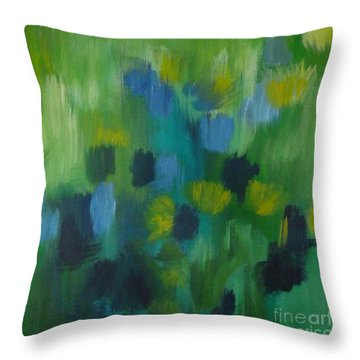 Seedtime Green Throw Pillow
