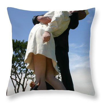 Throw Pillow featuring the photograph Seeeeport Village San Diego by Marie Neder