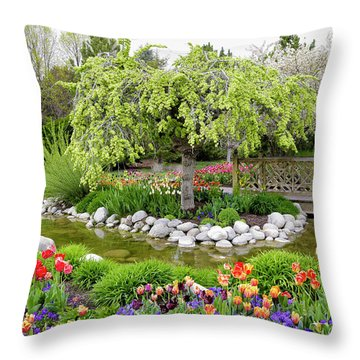 Seeing Beauty In All Things Throw Pillow by James Steele