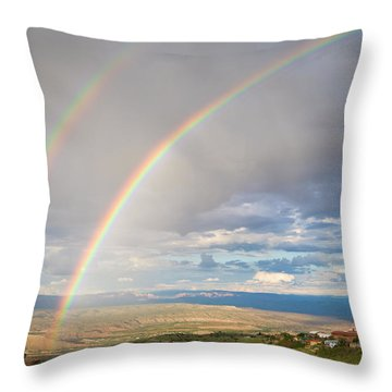 Seeing Double Throw Pillow by Alexey Stiop