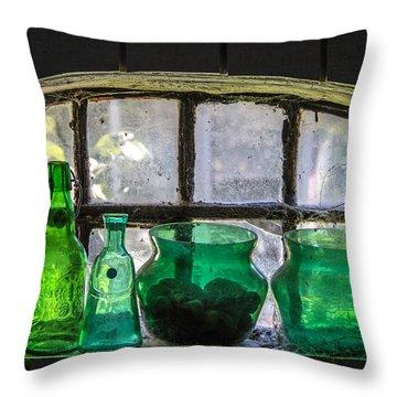 Seeing Green Throw Pillow by Odd Jeppesen