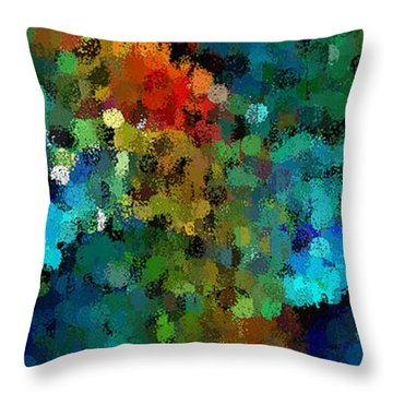 Seeing In The Rain Throw Pillow