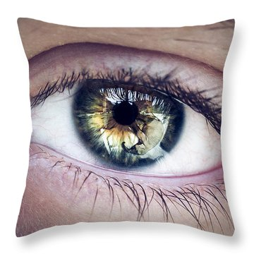Seeing Throw Pillow by Scott Meyer