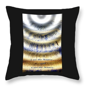Seeing The Source Throw Pillow