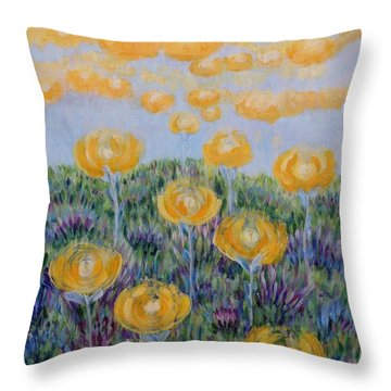 Throw Pillow featuring the painting Seeing Through by Holly Carmichael