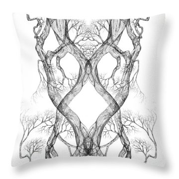 Seeing Tree 40 Hybrid1 Throw Pillow