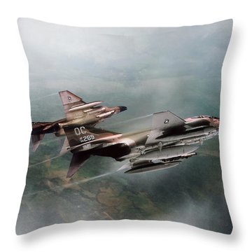 Throw Pillow featuring the digital art Seek And Attack by Peter Chilelli