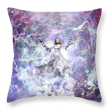 Seek And You Shall Find Throw Pillow by Dolores Develde