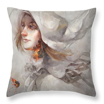 Throw Pillow featuring the digital art Seek V1 by Te Hu