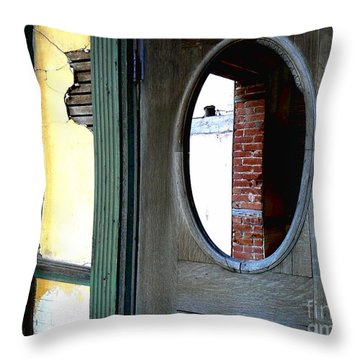 Seeking Perspective Throw Pillow by Lin Haring