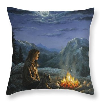 Seeking Solace Throw Pillow