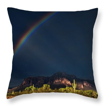 Throw Pillow featuring the photograph Seeking That Pot Of Gold  by Saija Lehtonen
