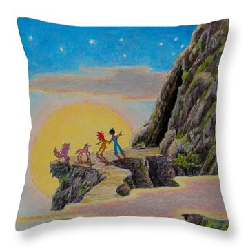 Seeking The Dragons Vast Treasure Throw Pillow
