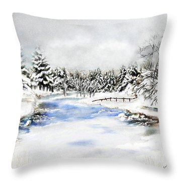 Seeley Montana Winter Throw Pillow by Susan Kinney