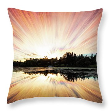 Seeleys Bay Explosion Throw Pillow