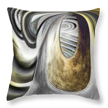 Throw Pillow featuring the digital art Seen In Stone by Wendy J St Christopher