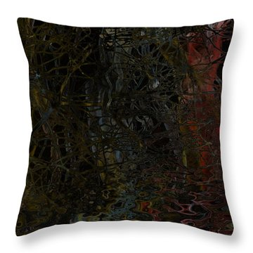 Seeweed Throw Pillow by Constance Krejci